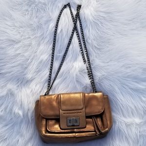 BCBGMAXAZRIA Crossbody Leather Bag Bronze
